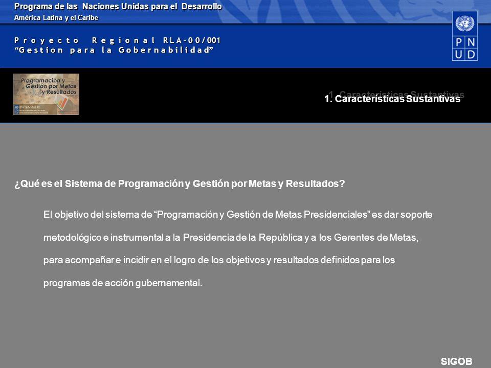 Programa de las Naciones Unidas para el Desarrollo América Latina y el Caribe P r o y e c t o R e g i o n a l R L A – 0 0 / 001 G e s t i o n p a r a l a G o b e r n a b i l i d a d SIGOB 1.