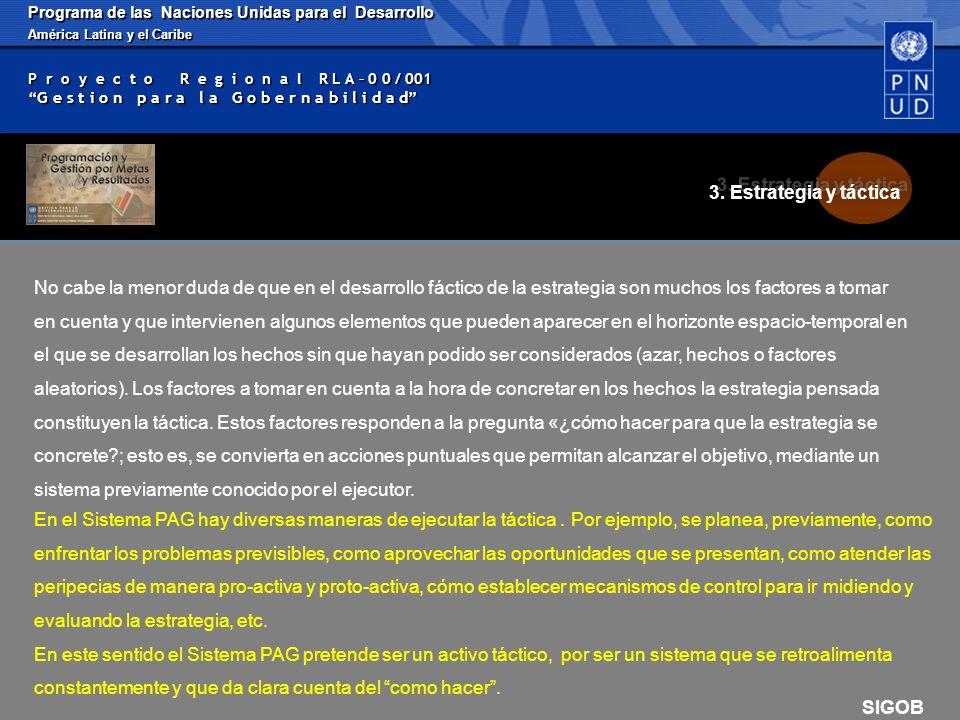 Programa de las Naciones Unidas para el Desarrollo América Latina y el Caribe P r o y e c t o R e g i o n a l R L A – 0 0 / 001 G e s t i o n p a r a l a G o b e r n a b i l i d a d ESTRUCTURA