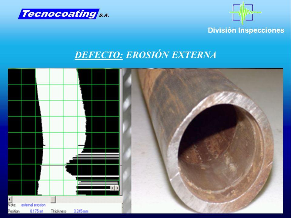 División Inspecciones DEFECTO: EROSIÓN EXTERNA