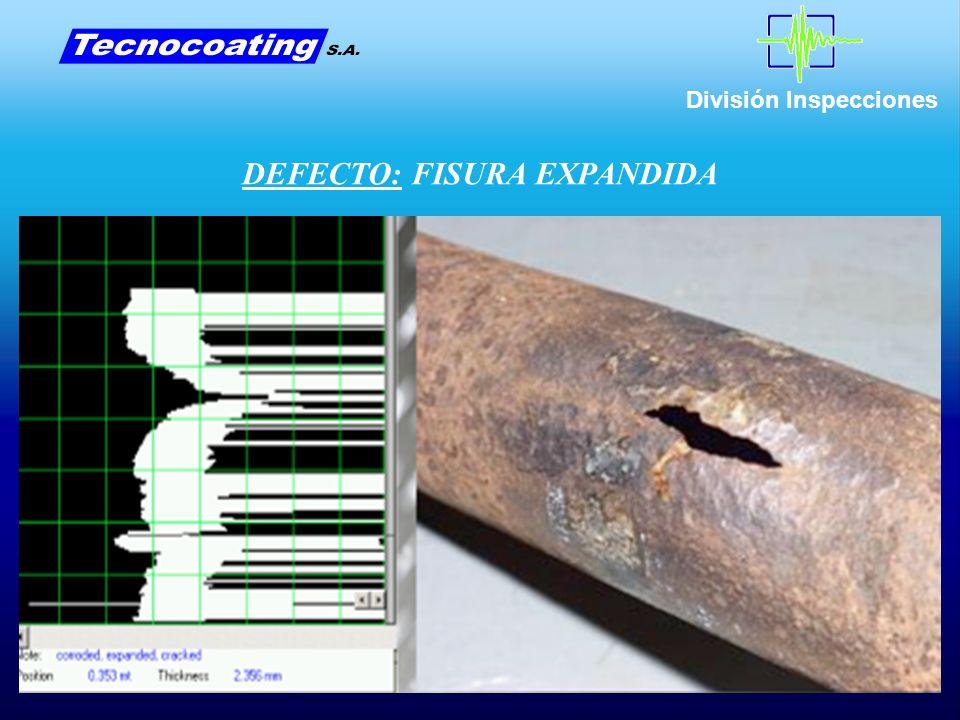 División Inspecciones DEFECTO: FISURA EXPANDIDA