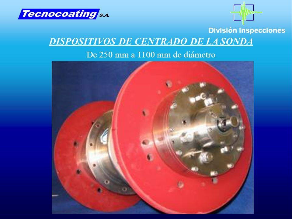 División Inspecciones DISPOSITIVOS DE CENTRADO DE LA SONDA De 250 mm a 1100 mm de diámetro