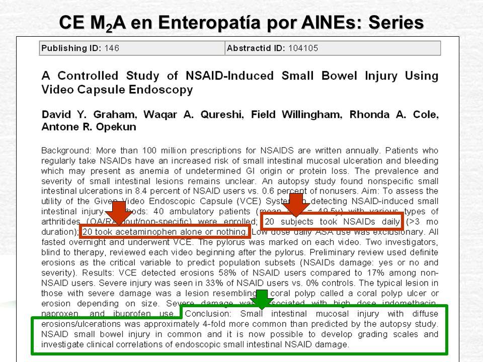 Determinar la frecuencia y severidad de las lesiones erosivas en intestino delgado causadas por la administración de AINEs durante 14 días a dosis habituales.