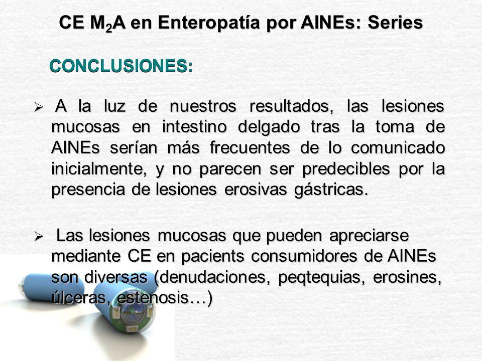 La Cápsula Endoscópica parece tener un importante papel en el estudio de la enteropatía por AINEs.