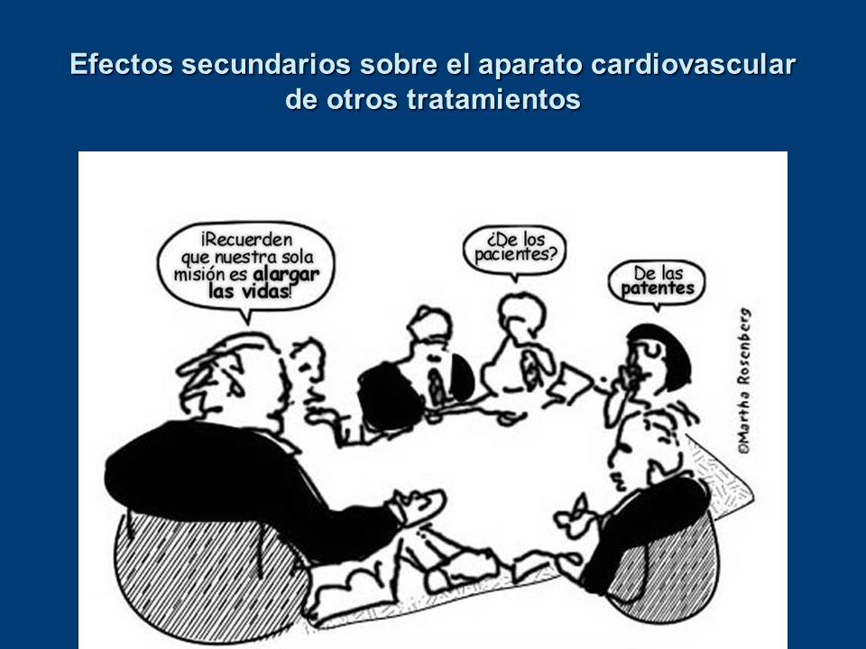 Efectos secundarios sobre el aparato cardiovascular de otros tratamientos