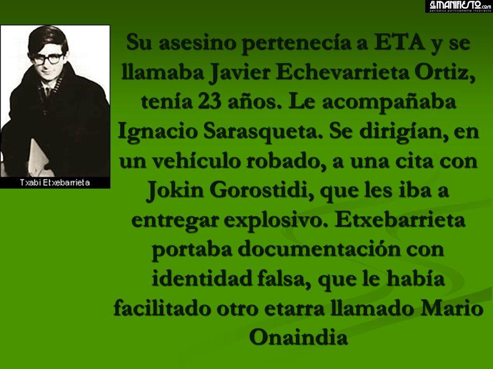 El 7 de junio de 1968 José Aurelio Pardines Arcay, guardia civil de tráfico, es asesinado de un tiro en la nuca. Tenía 24 años, nacido en Galicia y er