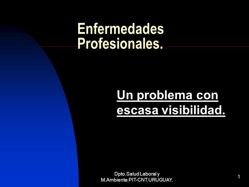 Dpto.Salud Laboral y M.Ambiente.PIT-CNT.URUGUAY. 1 Enfermedades Profesionales. Un problema con escasa visibilidad.