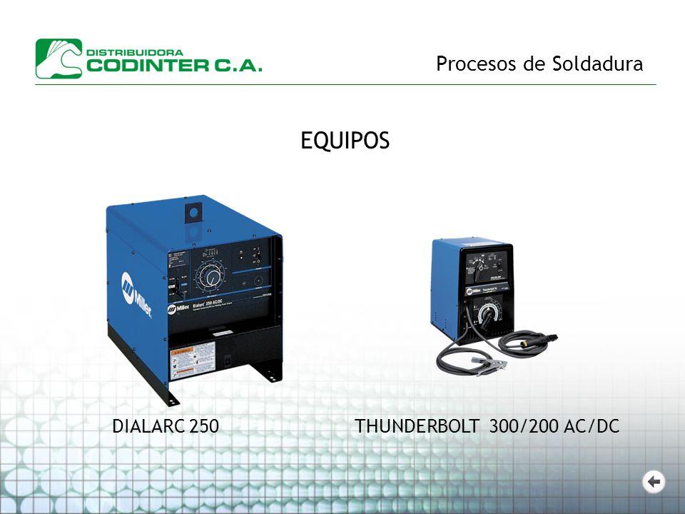 EQUIPOS THUNDERBOLT 300/200 AC/DCDIALARC 250
