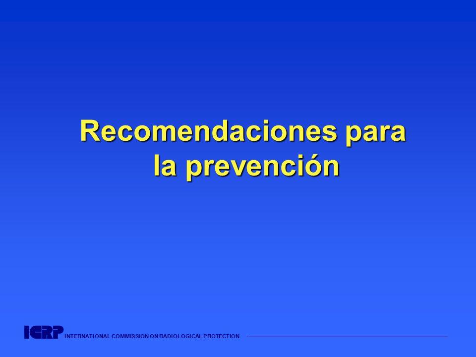INTERNATIONAL COMMISSION ON RADIOLOGICAL PROTECTION Recomendaciones para la prevención