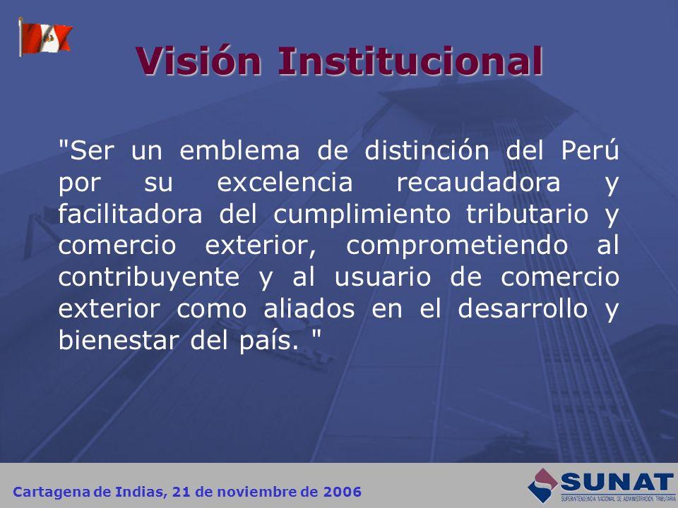 Cartagena de Indias, 21 de noviembre de 2006 Visión Institucional