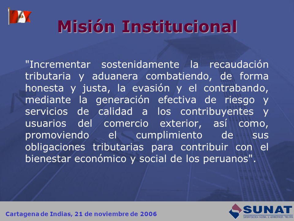 Cartagena de Indias, 21 de noviembre de 2006 Misión Institucional