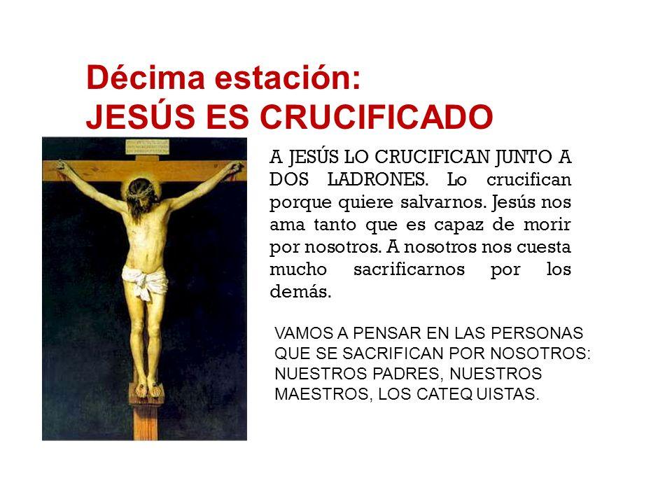Novena estación: JESÚS ENCUENTRA A LAS MUJERES DE JERUSALÉN JESÚS, QUE ESTÁ SUFRIENDO POR EL PESO DE LA CRUZ, CONSUELA A UNAS MUJERES QUE LLORAN POR É