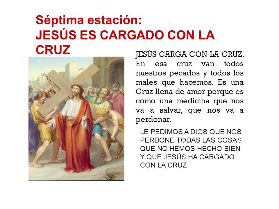 Sexta estación: JESÚS ES FLAGELADO Y CORONADO DE ESPINAS A JESÚS LE PONEN UNA CORONA DE ESPINAS, lo azotan, se ríen de Él. Muchas veces nosotros tambi