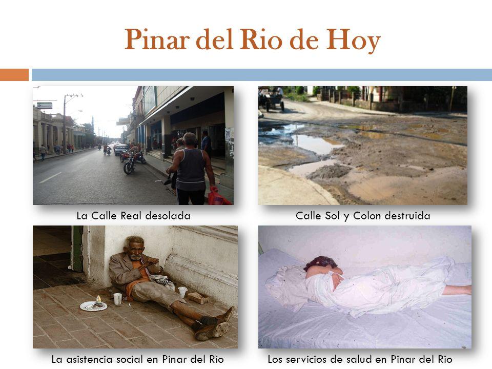Pinar del Rio de Hoy La Calle Real desoladaCalle Sol y Colon destruida La asistencia social en Pinar del RioLos servicios de salud en Pinar del Rio