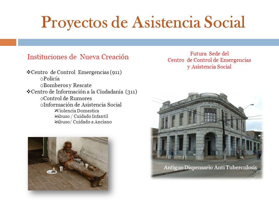Proyectos de Asistencia Social Futura Sede del Centro de Control de Emergencias y Asistencia Social Antiguo Dispensario Anti Tuberculosis Institucione