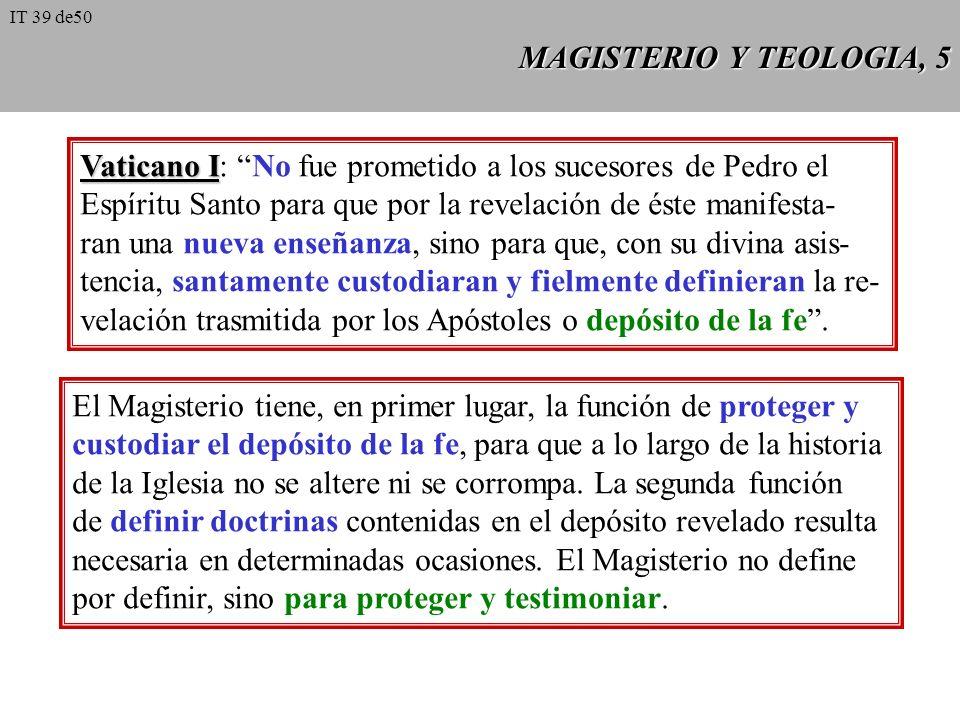MAGISTERIOY TEOLOGIA, 4 MAGISTERIO Y TEOLOGIA, 4 1 Verdades definidas por el Magisterio (extraordinario o ordinario) como divinamente reveladas: infal