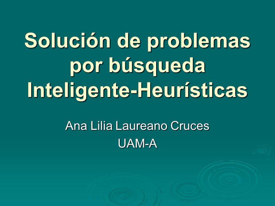 Solución de problemas por búsqueda Inteligente-Heurísticas Ana Lilia Laureano Cruces UAM-A