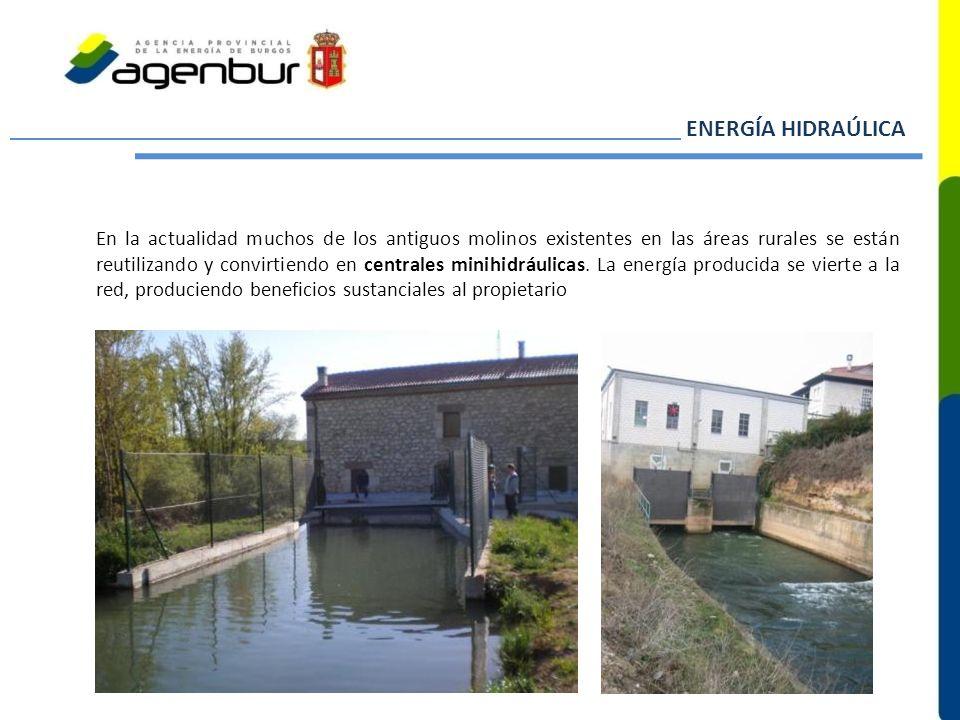 En la actualidad muchos de los antiguos molinos existentes en las áreas rurales se están reutilizando y convirtiendo en centrales minihidráulicas. La