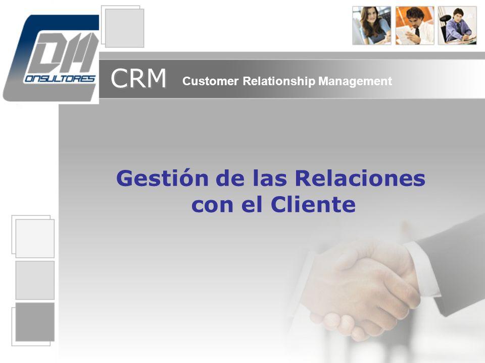 CRM Customer Relationship Management Gestión de las Relaciones con el Cliente