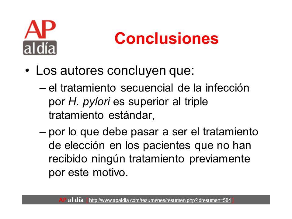 AP al día [ http://www.apaldia.com/resumenes/resumen.php idresumen=584 ] Resultados (4) No hubo diferencias importantes entre los dos tipos de tratamiento en el número de pacientes que presentaron efectos adversos.