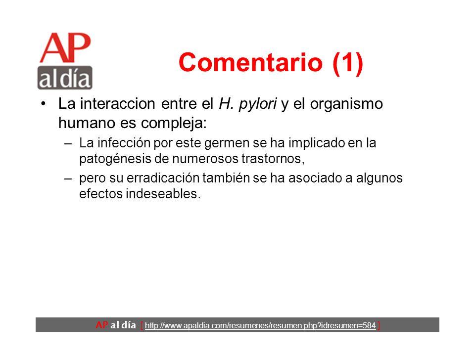 AP al día [ http://www.apaldia.com/resumenes/resumen.php idresumen=584 ] Conclusiones Los autores concluyen que: –el tratamiento secuencial de la infección por H.