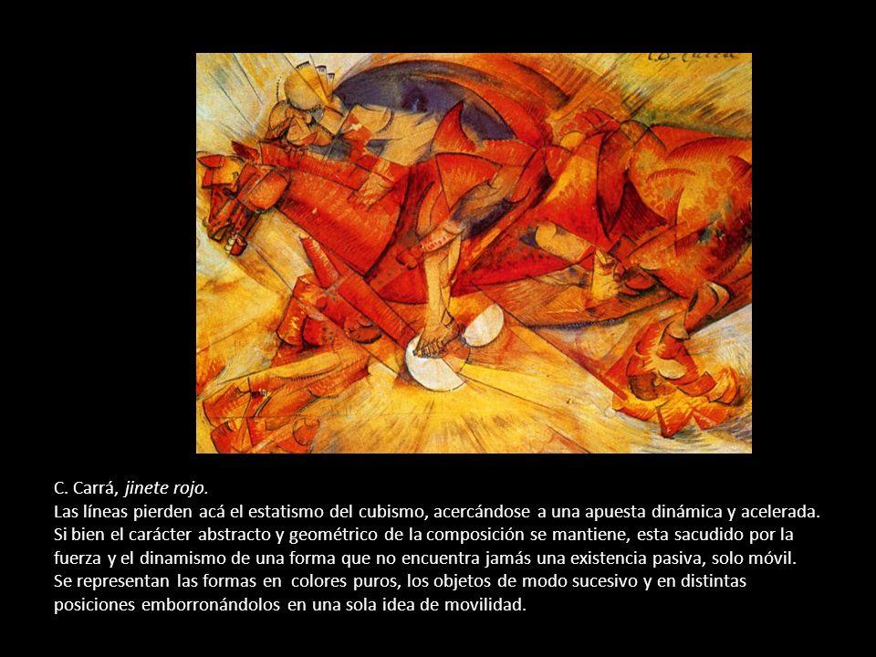 C.Carrá, jinete rojo.