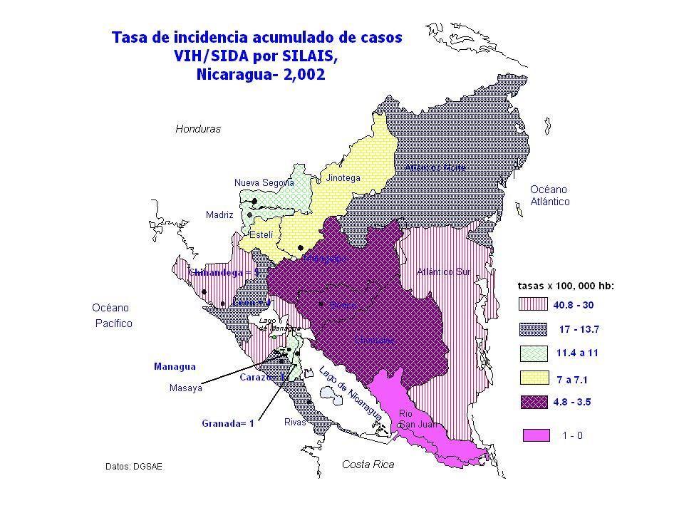CASOS SIDA POR SILAIS.NICARAGUA 1987 - Mar. 2003 Programa Nacional de ITS/VIH/SIDA.