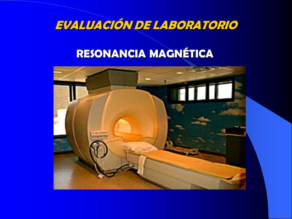 EVALUACIÓN DE LABORATORIO RESONANCIA MAGNÉTICA