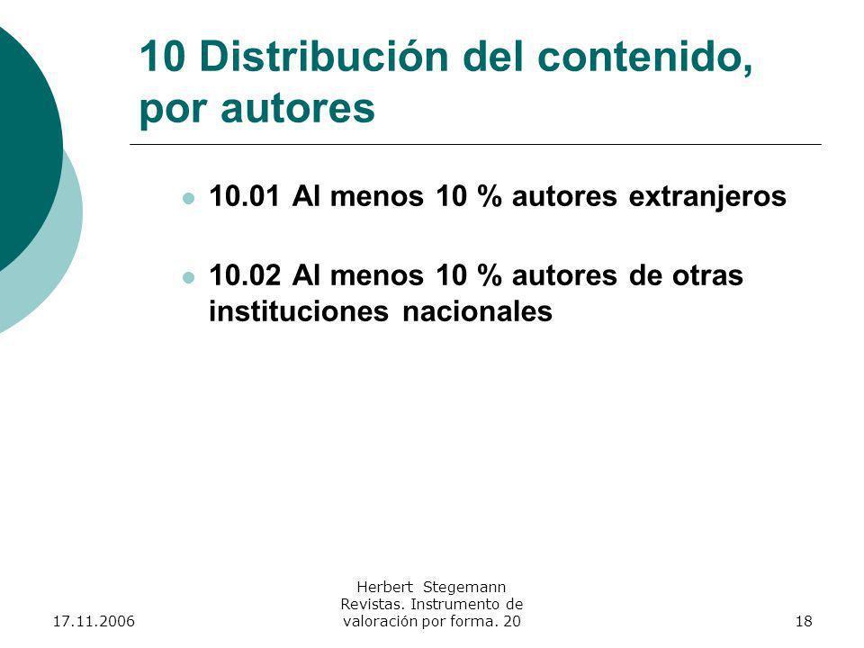 17.11.2006 Herbert Stegemann Revistas.Instrumento de valoración por forma.