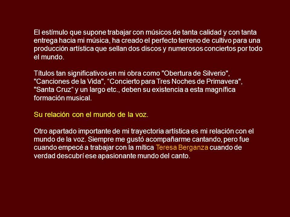 A partir de ahí ya fue una constante mi relación artística y creativa con el mundo del flamenco.