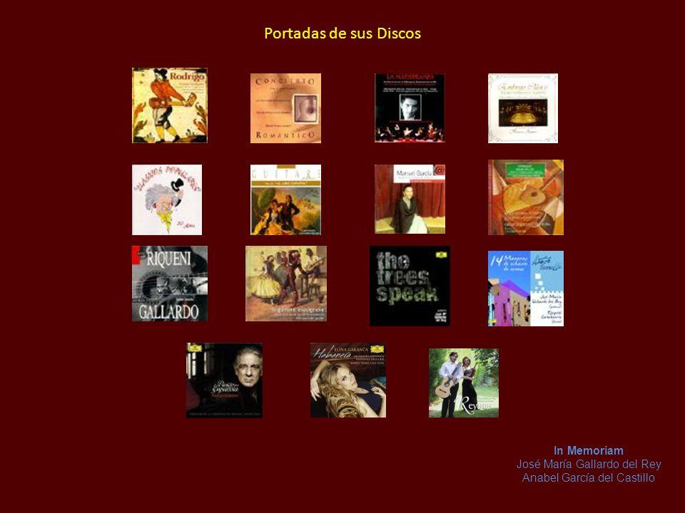 Discografía José María Gallardo del Rey ha grabado 15 discos, como solista, con su orquesta de cámara La Maestranza y en colaboración con artistas com
