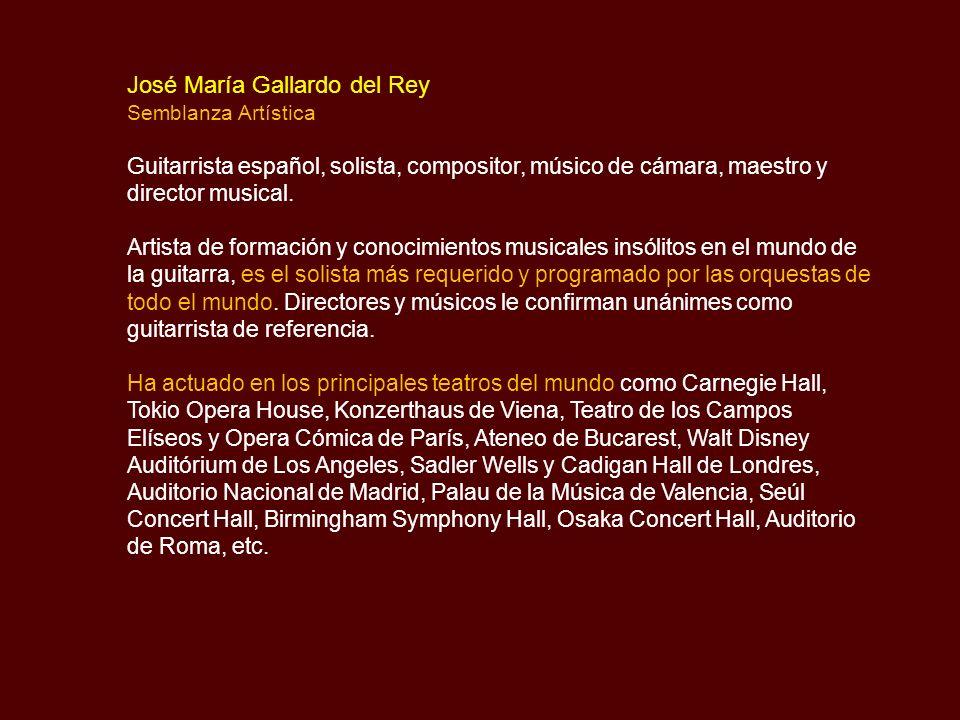 José María Gallardo del Rey Biografía y Música Concierto de Aranjuez - Allegro con Spirito Joaquín Rodrigo