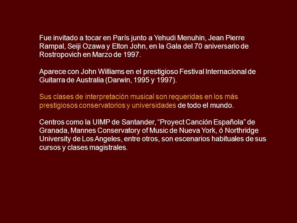 Su música ha sido coreografiada por nombres de la danza como María Pagés, Víctor Ullate y Lola Greco en espectáculos como Sevilla, De la Luna al Viento, Don Quijote e Iberia.