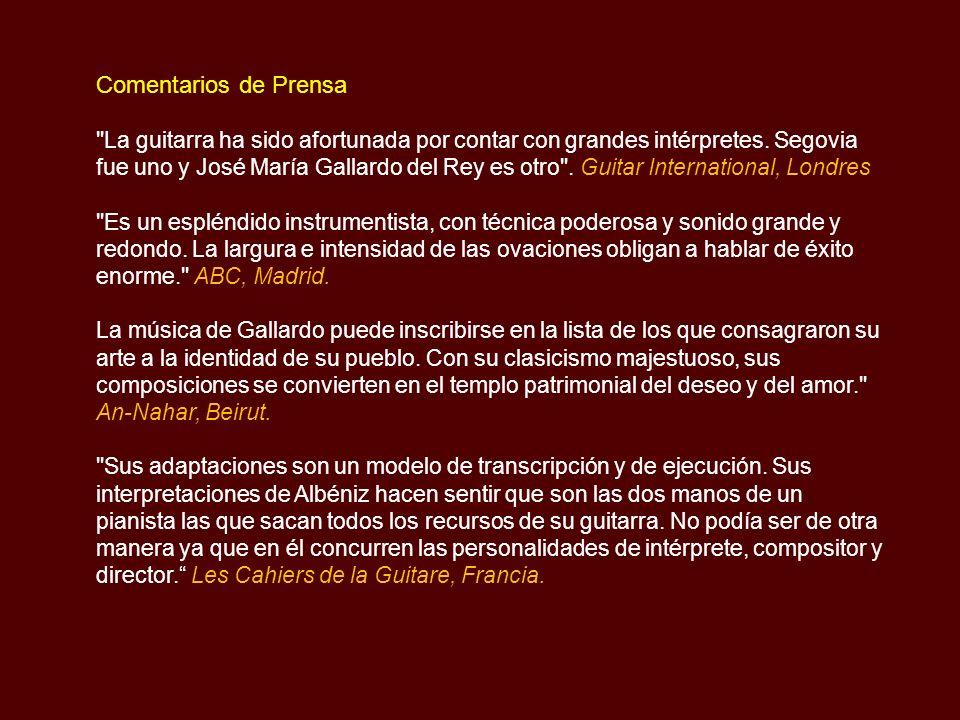 Lista Reconocimientos y Premios recibidos Premios Extraordinarios Fin de Carrera en Guitarra y Música de Cámara.