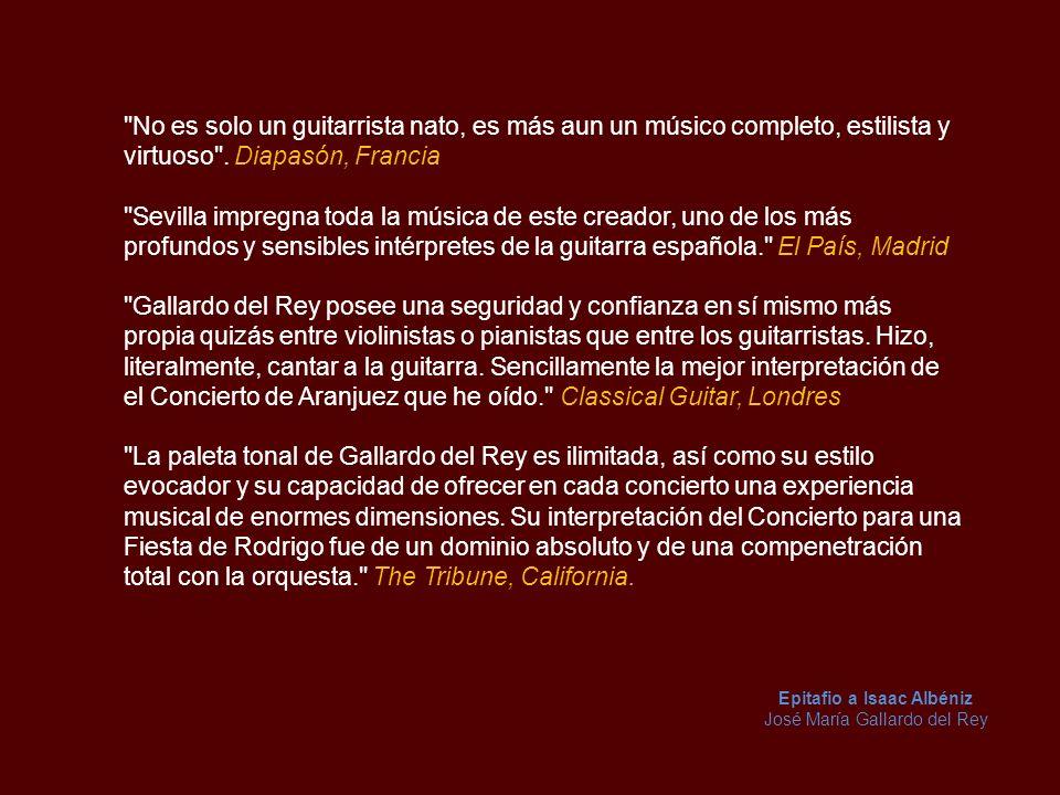 Comentarios de Prensa La guitarra ha sido afortunada por contar con grandes intérpretes.