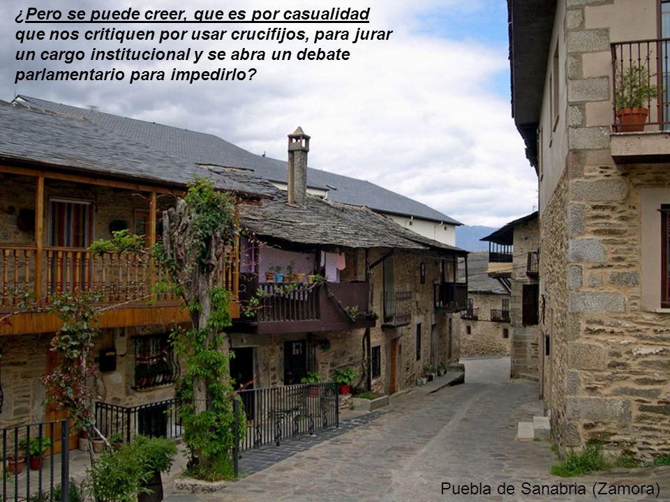 La Alberca (Salamanca) ¿Pero se puede creer, que es por casualidad que en un evento donde el rey de España, es el anfitrión, se estén repartiendo silb