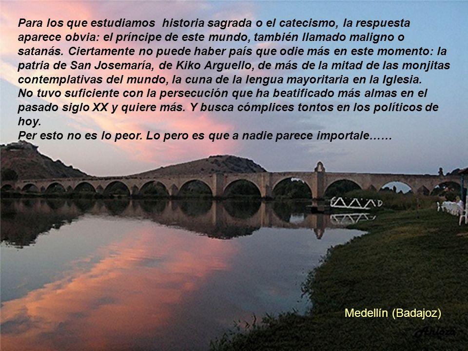 Madrigal de las Altas Torres (Avila) Creo, la verdad, que son muchas casualidades. Me considero un ciudadano normal, no soy ni moralista, ni lo preten