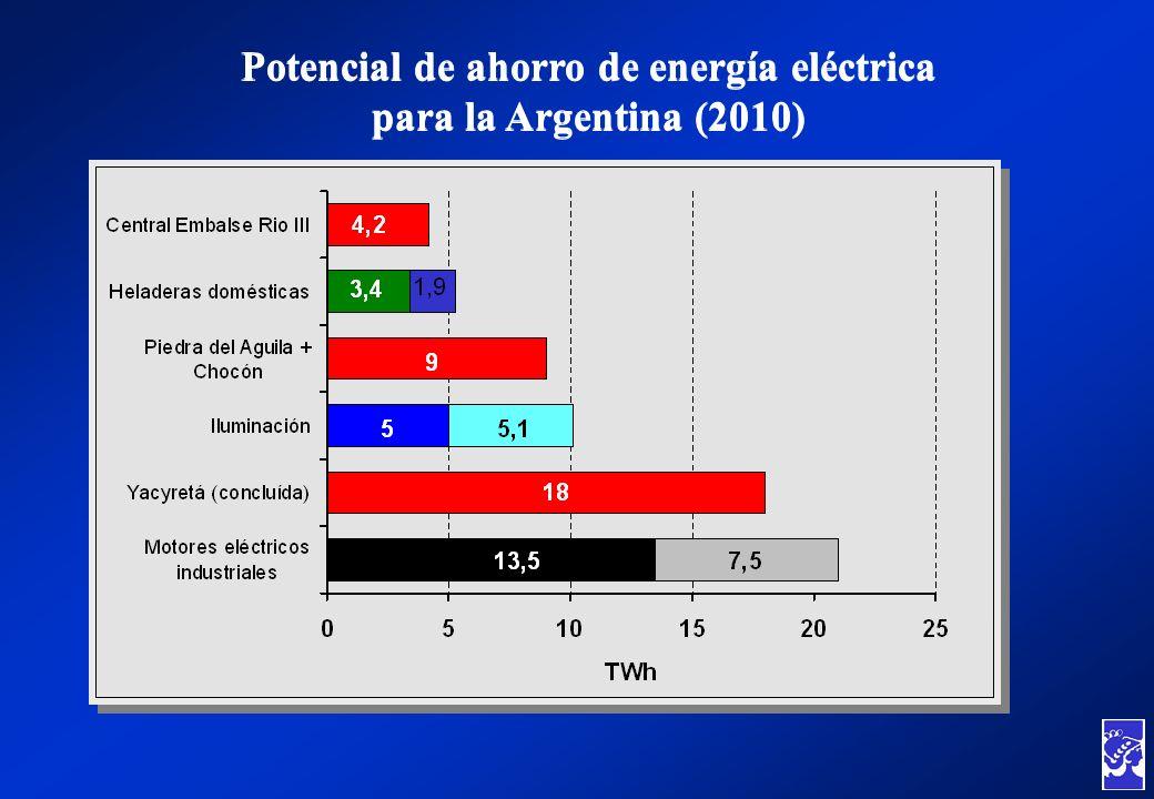 Potencial de ahorro de energía eléctrica para la Argentina (2010)