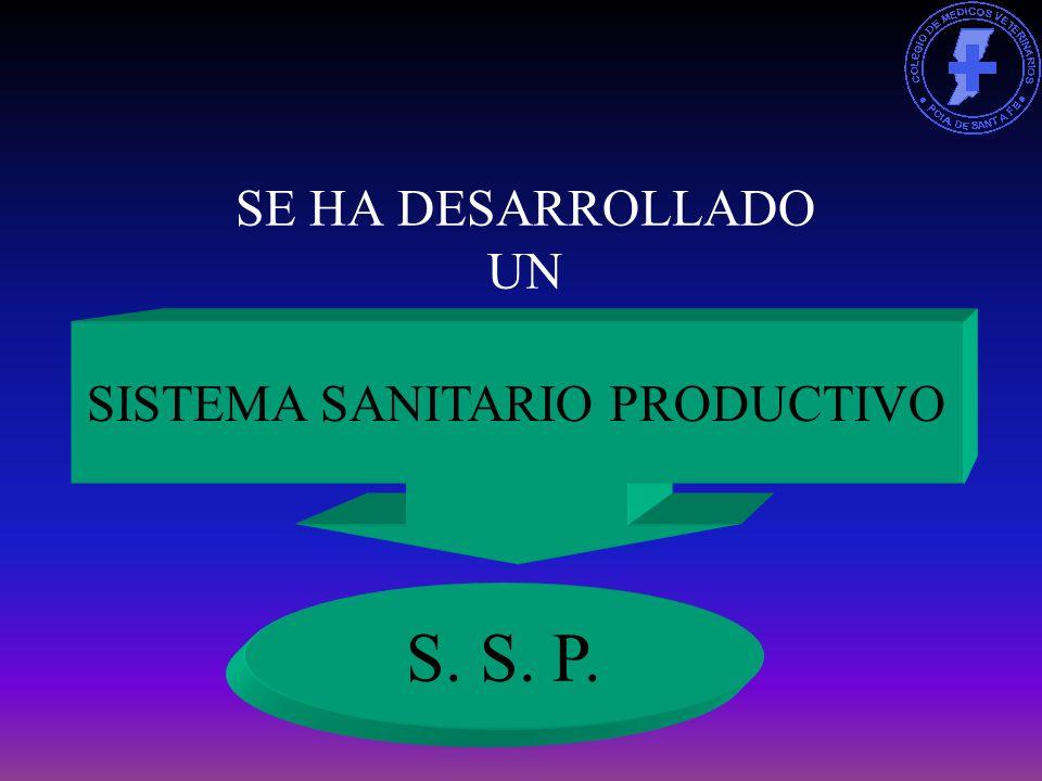 SE HA DESARROLLADO UN SISTEMA SANITARIO PRODUCTIVO S. S. P.