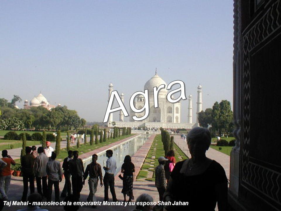 Carretera principal que une Nueva Delhi con Agra (unos de los peculiares medios de transporte) Todo lo que no es dado es perdido.