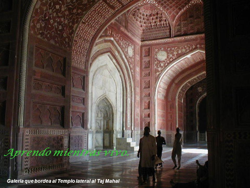 Vista del Templo lateral al Taj Mahal La tierra no es una herencia de nuestros padres sino un préstamo de nuestros hijos.