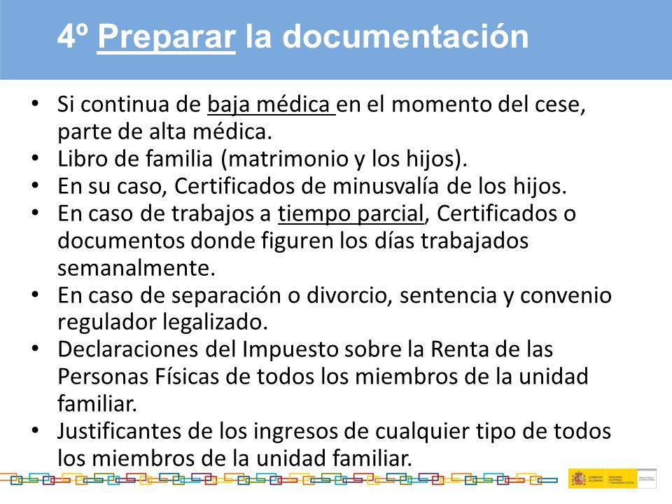 Perspiciatisundeomn umvoluptatemaccus antiumdoloremqueest 4º Preparar la documentación Si continua de baja médica en el momento del cese, parte de alta médica.