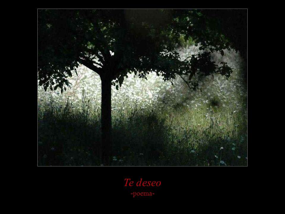Te deseo -poema-