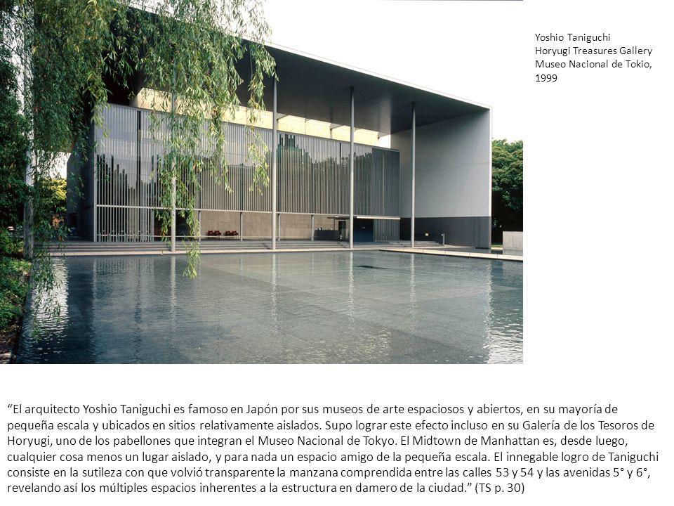 El arquitecto Yoshio Taniguchi es famoso en Japón por sus museos de arte espaciosos y abiertos, en su mayoría de pequeña escala y ubicados en sitios r