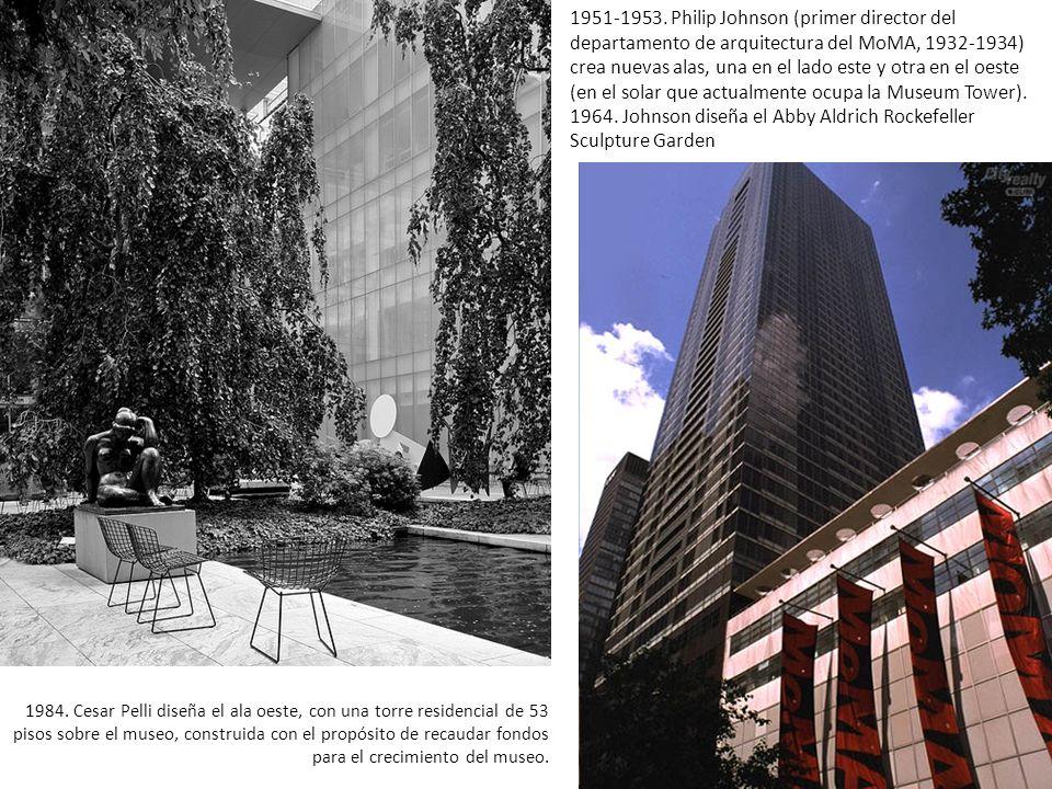 1984. Cesar Pelli diseña el ala oeste, con una torre residencial de 53 pisos sobre el museo, construida con el propósito de recaudar fondos para el cr