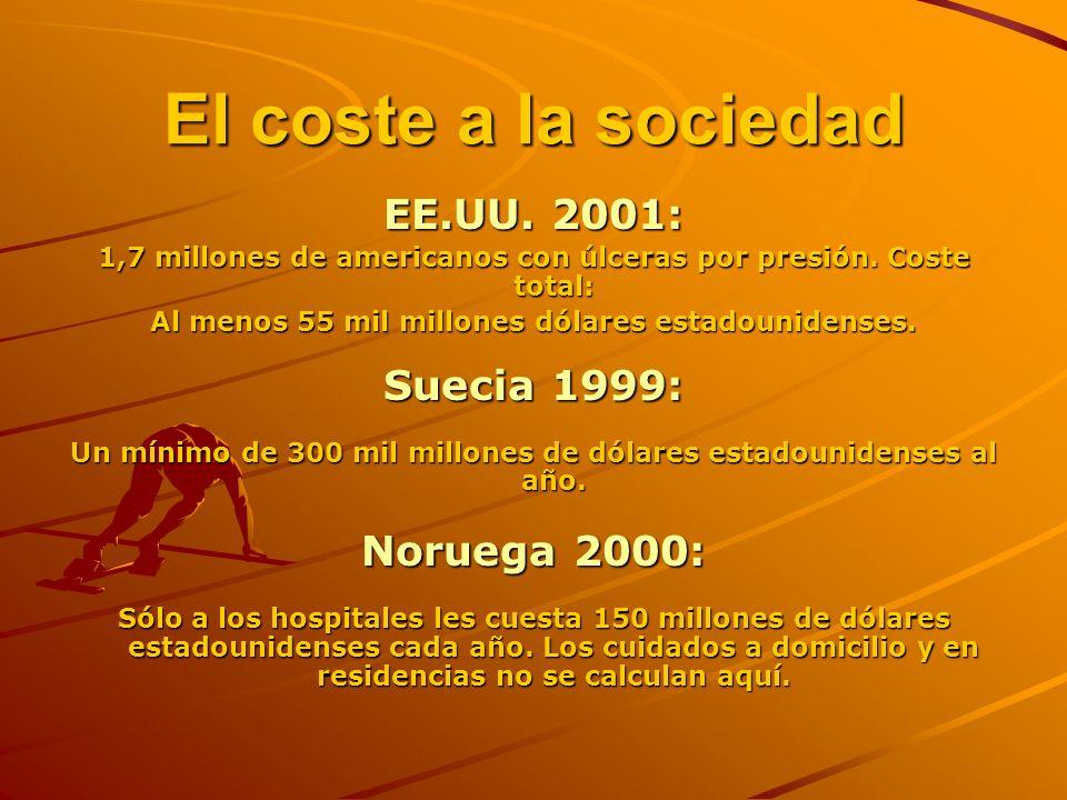 El coste a la sociedad EE.UU.2001: 1,7 millones de americanos con úlceras por presión.