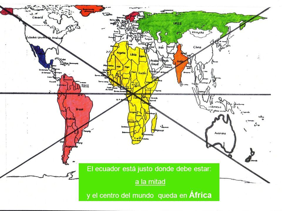El ecuador está justo donde debe estar: a la mitad y el centro del mundo queda en África