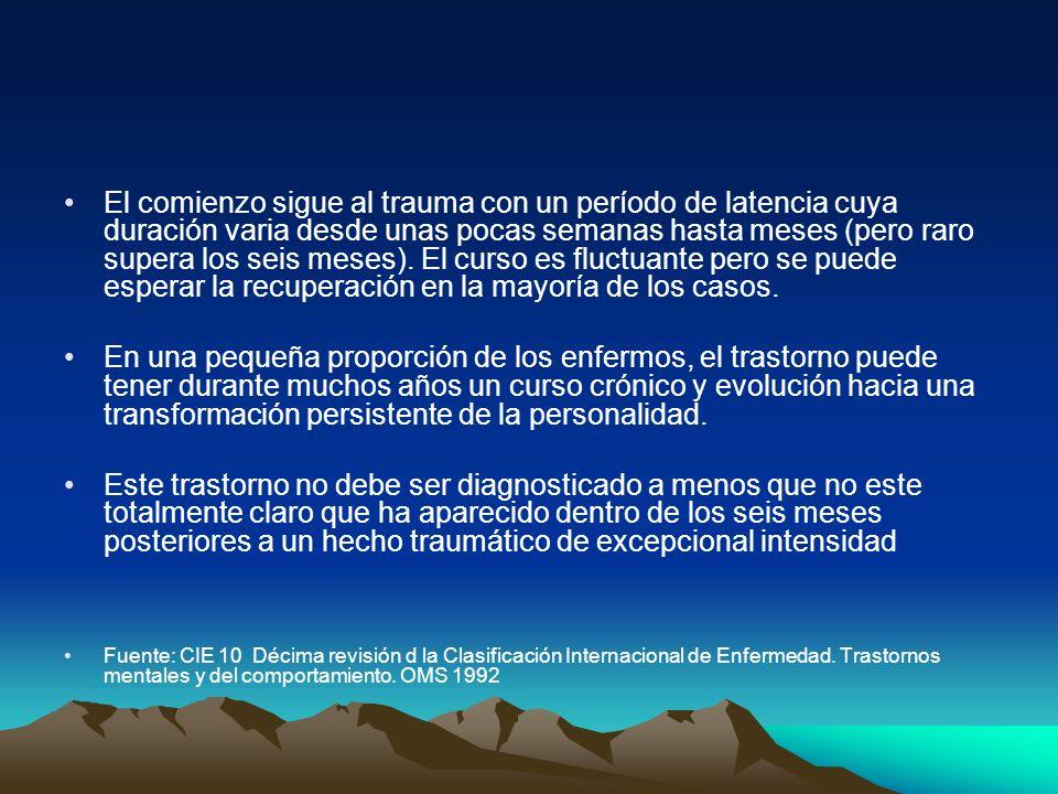 6.La recuperación requiere medicación especifica y eventual psicoterapia 7.La posición y actitud del terapeuta ante la GM no impacta en el resultado terapéutico.