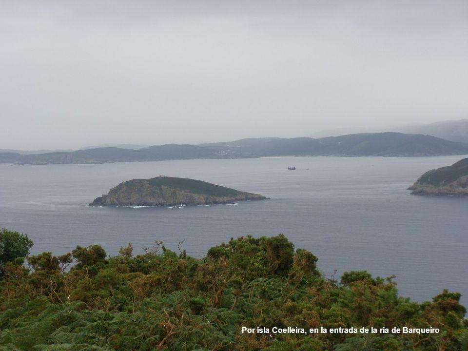 Por isla Coelleira, en la entrada de la ría de Barqueiro