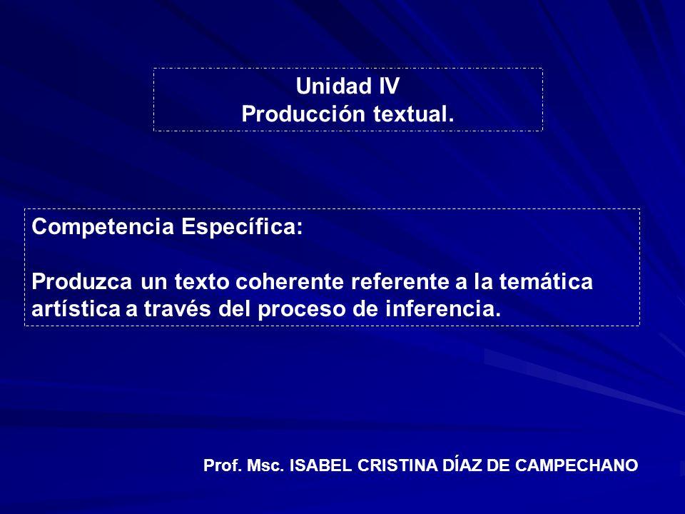 Unidad IV Producción textual.