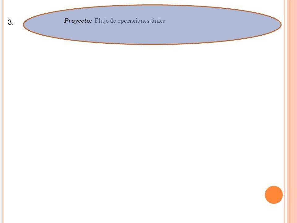 3. Proyecto: Flujo de operaciones único